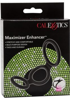 Maximizer Enhancer Silicone Erection And Scrotum Enhancer Cock Ring Black