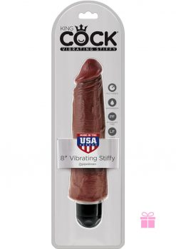 King Cock Vibrating Stiffy Brown