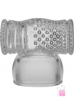 Kink Power Wand Attachment Textured Cock Stroker Clear