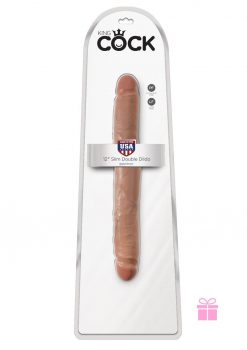 King Cock  12 Slim Double Dildo - Tan