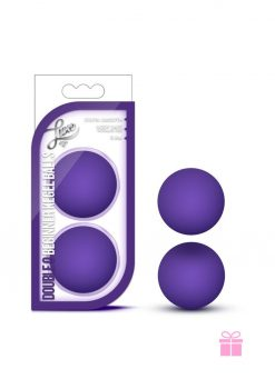 Luxe Double O Kegel Balls Purple Weighted .8 Ounce