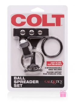 Colt Ball Spreader Set Adjustable Fastener Snap With Stainless Steel Cockring