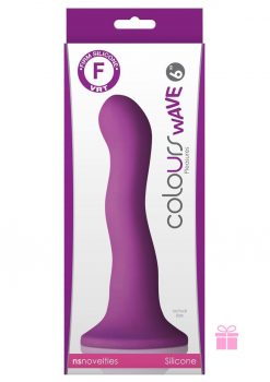 Colours Wave Silicone Dildo Purple 6 Inch