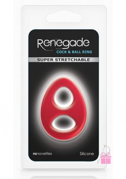 Renegade Romeo Soft Silicone Cock And Ball Ring Red