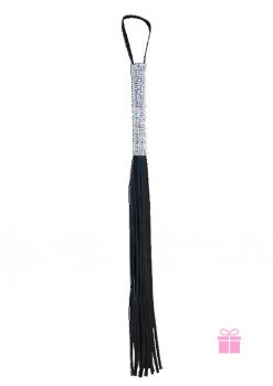 Sex And Mischief Sparkle Flogger Black 31 Inch